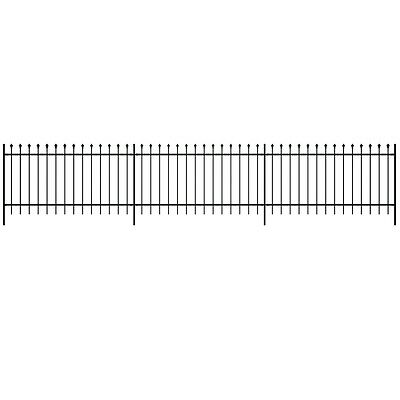 New Security Palisade Garden Fence Steel Pointed Top 60/80/100/120/150 cm