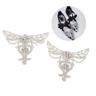 White Pair Sewing On Rhinestone Crafts For Wedding Design Dress Shoe Clips