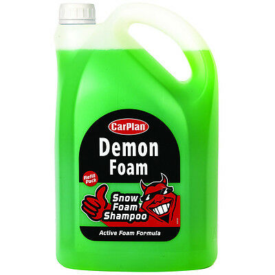 CarPlan Demon Foam Active Snow Car Shampoo Foamula Shine Wash Dirt 5 Litre