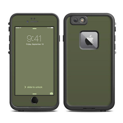 Skin for LifeProof FRE iPhone 6 Plus - Solid State Olive Drab - Sticker Decal
