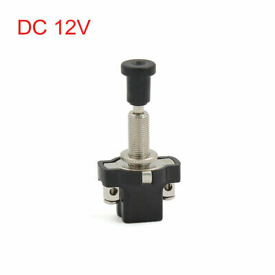 8mm Thread Mount Electrical Vehicle Auto Car ON-OFF Push-Pull Switch DC 12V