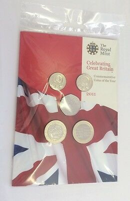 2011 Brilliant Uncirculated coin collection year set sealed royal mint