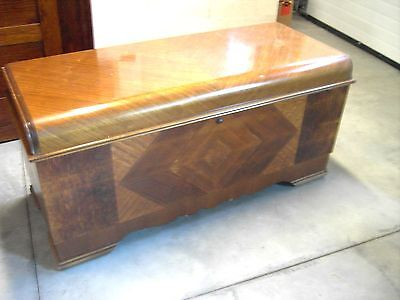 Antique/Vintage Lane Cedar Chest dated 1946 Waterfall Style Lock Removed RARE