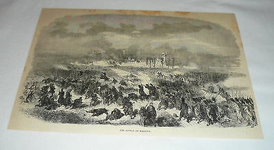 1879 magazine engraving ~ SCENE FROM THE BATTLE OF MAGENTA