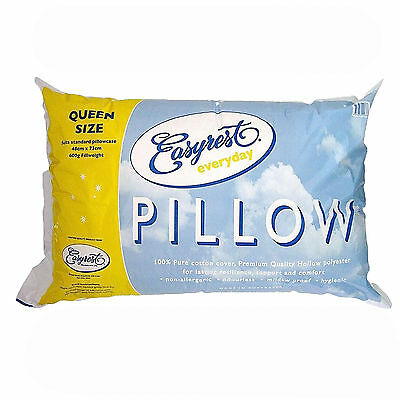 Easyrest QUEEN Sized Pillow with Cotton Cover Non Allergenic - MADE IN AUSTRALIA