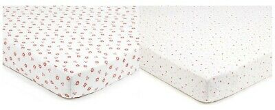 Breathable Baby Pack Of Two Cotbed Sheets