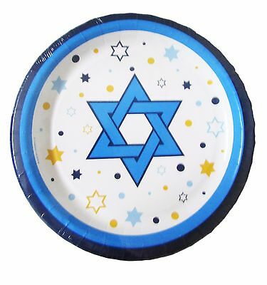 """Stars of Hanukkah 8 3/4""""  Paper Plates Events Parties Party Tableware Lot of 320"""