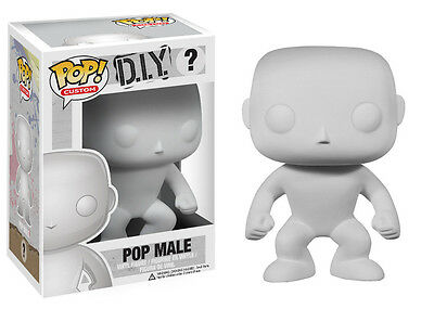 Funko Pop Custom DIY Do It Yourself: Male Vinyl Action Figure Collectible Toy