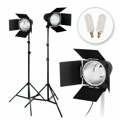 LUSANA STUDIO 2Pcs Photo Video Studio Continuous Light Lighting Kit, Studio Barn