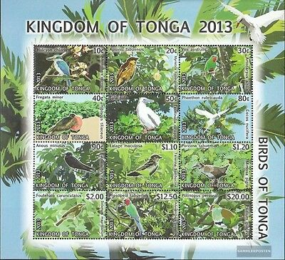 Tonga 1897-1908 zd-feuille (édition complète) neuf 2013 timbres: Oiseaux