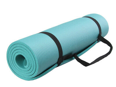 Yoga Mat NBR Thick Exercise Fitness Physio Pilates Gym Mats Non Slip Carrier