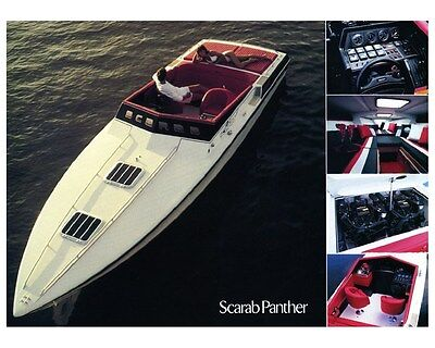 1988 Wellcraft Scarab Panther Power Boat Factory Photo ud2726
