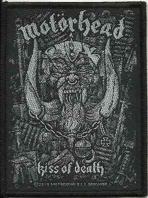 MOTORHEAD kiss of death 2007 WOVEN SEW ON PATCH official - no longer made LEMMY