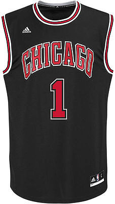 be7f46af5 Chicago Bulls Youth Jersey #1 Derrick Rose Printed NBA Adidas Official Black