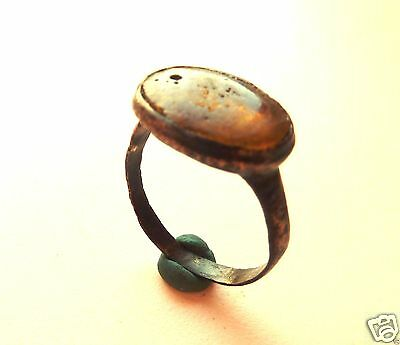 Medieval  ring with glass insert.  (659)