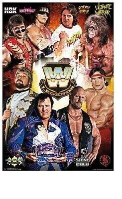WWE 2016 ~ 8 LEGENDS ~ STONE COLD MACHO ~ 22x34 WRESTLING POSTER  ~ NEW/ROLLED!
