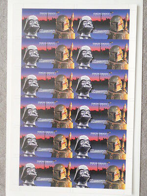 Star Wars Starcon rare limited issue uncut card sheet only issued in Canada 1997