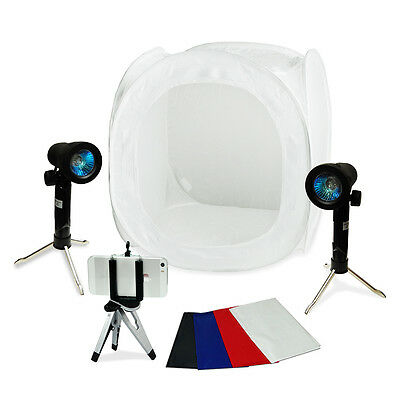 """Photography 30"""" Photography Photo Studio Light Tent Lighting Backdrop Kit in a B"""