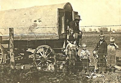 "1915 Colorado Family, Covered Wagon, Children, 16""x11"" Photo, WESTERN LIFE, Farm"
