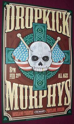 Dropkick Murphys Concert Poster . The Meanest of Times