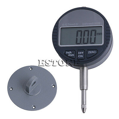 "0.01mm/0.0005"" Range 0-12.7mm/1"" Gauge Digital Dial indicator Precision Tool New"