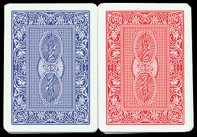 Dal Negro Treviso Setup Red/Blue Plastic Playing Cards Poker Std Ind. FREE SHIP*