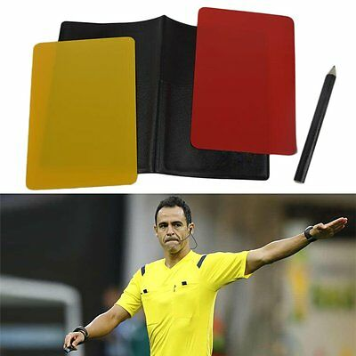 Referee Cards Volleyball Football Sport Wallet Score Notebook Pencil Set XH