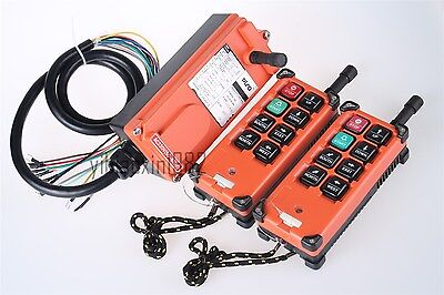 Double Emitters Hoist Crane Radio Wireless Remote Control switch DC 12V F21-E1B