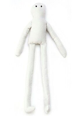 "14"" Muslin Doll for doll making with eyes and wired"
