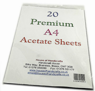 A4 Acetate Sheets Top Premium quality 250 micron by the sheet