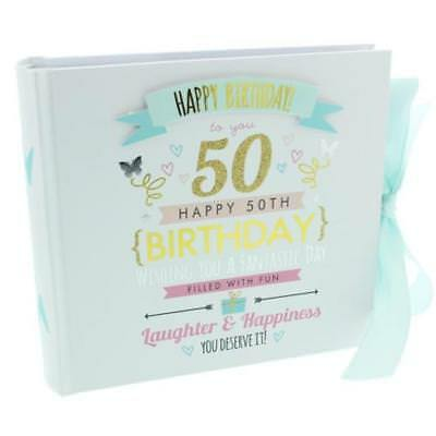 "Happy 50th Birthday Photo Album - Holds 80 6"" x 4"" photos FL30050"