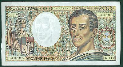 FRANCE 200 FRANCS MONTESQUIEU de 1992  ETAT: TTB +/SUP  G 117