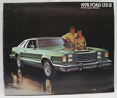 1978 Ford Ltd Ii Automobile Car Advertising Sales Brochure Vintage August 1977