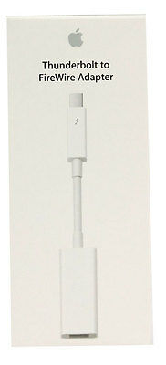 Genuine Apple Thunderbolt to FireWire Adapter Cable MD464M/A for Mac Computer
