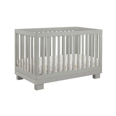 babyletto Modo 3-in-1 Convertible Crib with Toddler Bed Kit in Grey - M6701G