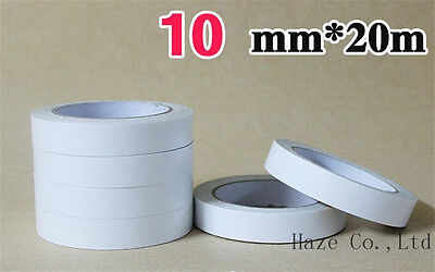 2 X Rolls Of Double Sided Super Strong Adhesive Tape 10mm X 20mtrs
