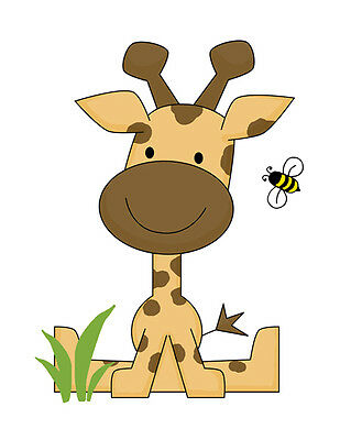 Safari Animal Baby Nursery Giraffe Decor Decal Wall Art Mural Jungle Stickers