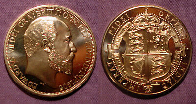 1905 King Edward Vii Golden Pattern Proof Shield Crown