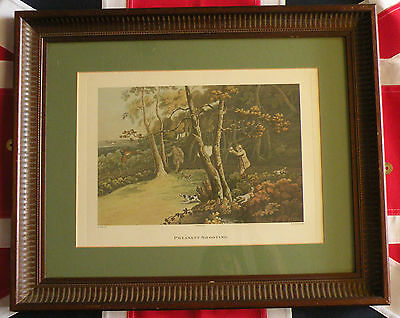 Vintage PHEASANT SHOOTING Print. First Published 1813 by Henry Alken c1960