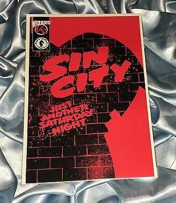 Frank Miller's Sin City Just Another Saturday Night~Wizard 1/2~Ltd Edition~Vf