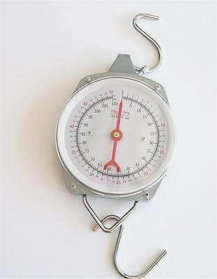 110lbs Hanging Kitchen  Spring Scale ~ Lbs & Kilo ~ Meat - Produce
