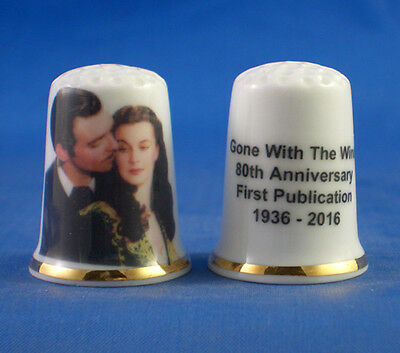 Commemorative Thimble - Gone With The Wind 80Th Anniversary -  Free Gift Box