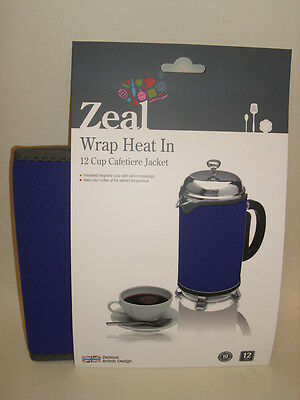 New Zeal Cafetiere Insulated Thermal Heat Wrap Jacket 12 Cup Purple C125