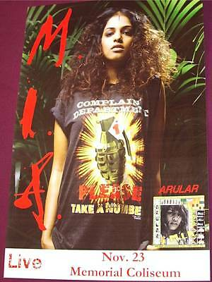 M. I. A. Concert Poster Arular Piracy Funds Terrorism MIA