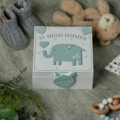 Baby Boy wooden Memories Keepsake Box Vintage Style CG1307B