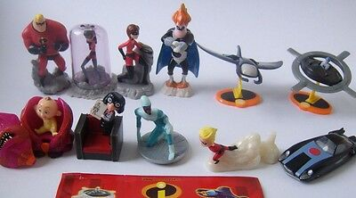 Collectible Complete Figures Set THE INCREDIBLES Kinder Surprise 2004