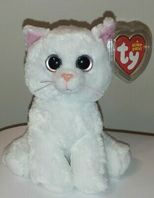 Ty Beanie Baby - BIANCA the White Cat (Big Eyes NEW Version) MINT with MINT TAGS