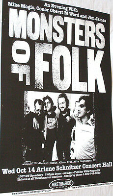 Monsters of Folk Poster Conor Oberst Jim James M. Ward