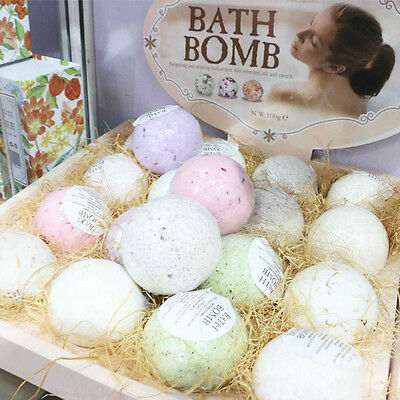 Bathroom Moisturizing Salt Bath Bombs Lush Fizzies Assorted Color Scents Gift