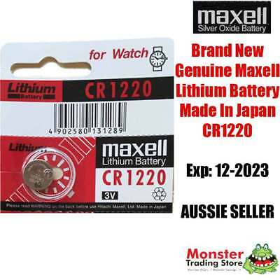 1 Pcs Maxell Cr1220 3V Lithium Button Coin Battery Made In Japan For Watch New